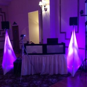 DJ Booth w/Pink Scrims