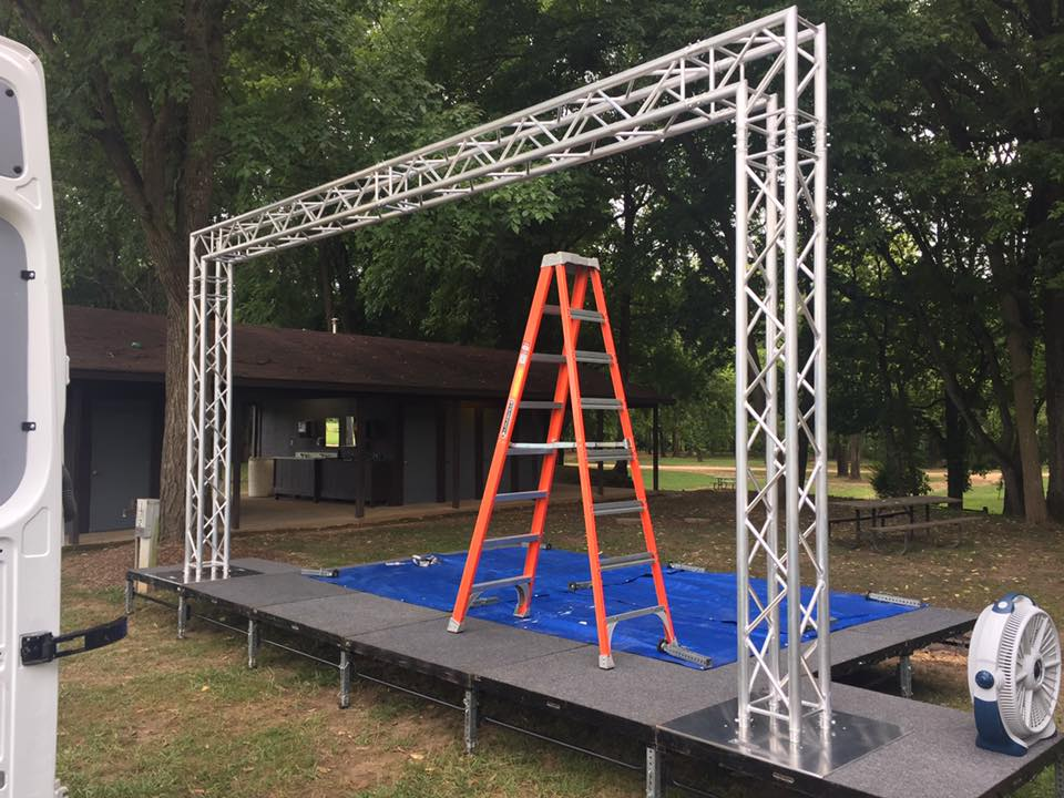 The Float Bash 2016 Stage And Truss Is Up Ready To Hang Everything